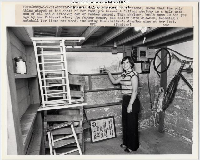 Family fallout shelter, Portland, 1981