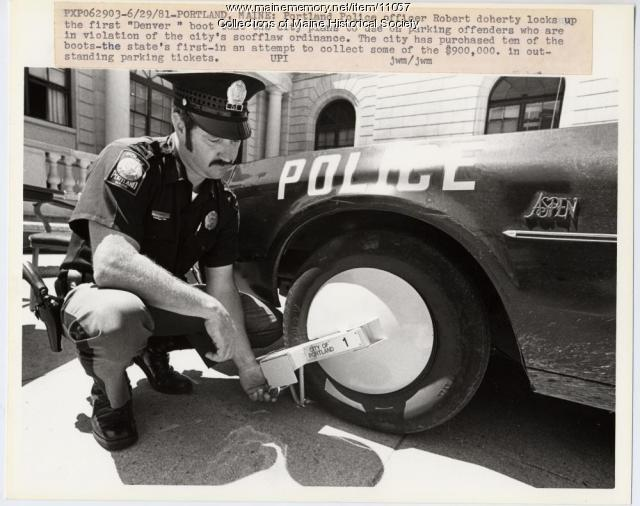 Parking boot, Portland, 1981