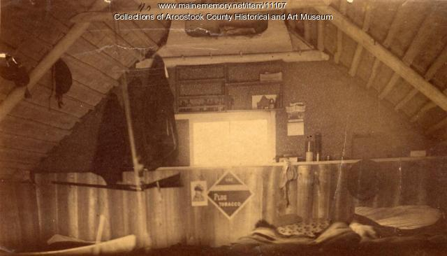 Interior of Camp Caribou, 1889