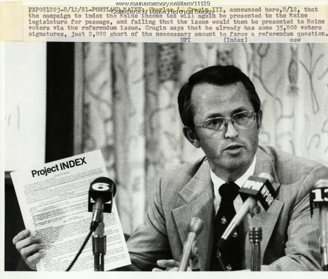 Income tax reform effort, Portland, 1981