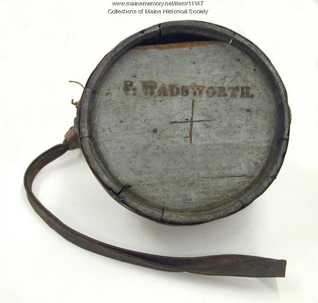 Peleg Wadsworth III canteen, ca. 1812