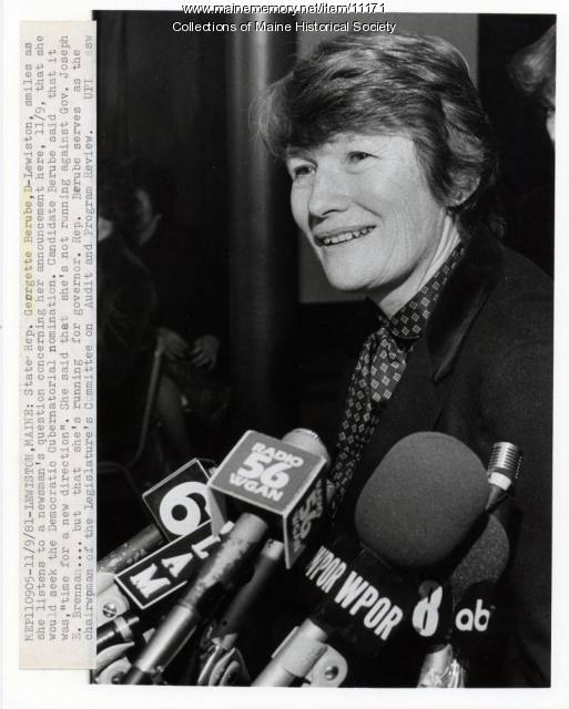Georgette Berube, Lewiston, 1981