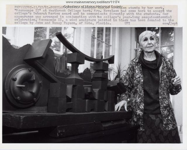 Louise Nevelson, Portland, 1981
