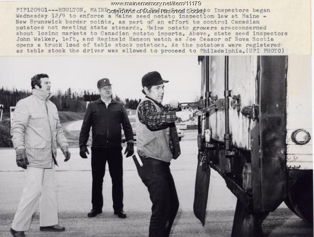Potato inspection, Houlton, 1981