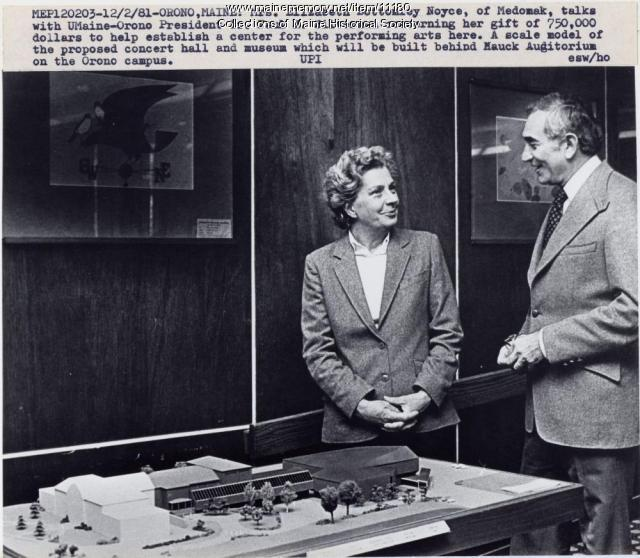 Elizabeth Bottomley Noyce and Dr. Paul Silverman, Orono, 1981