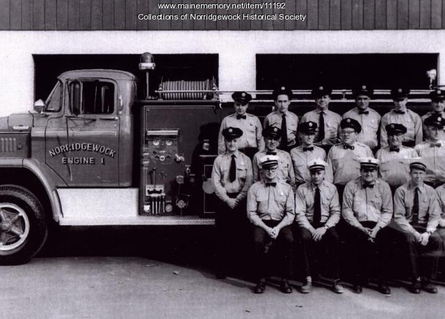 Norridgewock firefighters, 1960