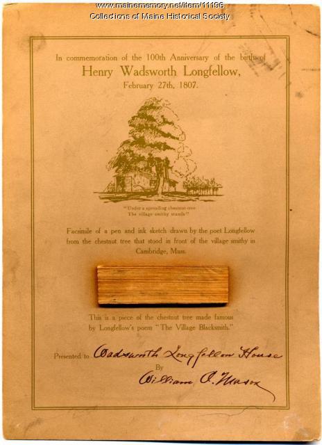 Longfellow Centennial Commemorative Card