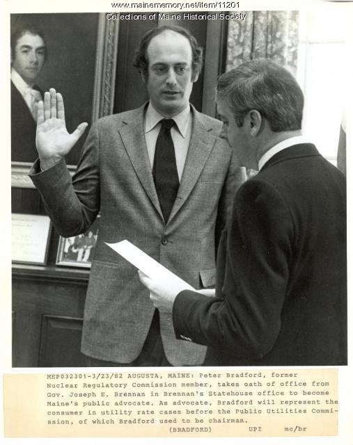 Public advocate sworn in, 1982