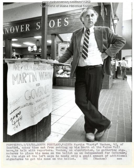 Candidate Martin Vachon, South Portland, 1982
