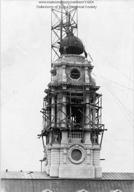 City Hall clocktower construction, 1912