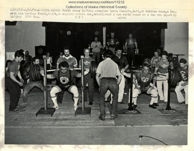 Power lifting champions, Augusta, 1982
