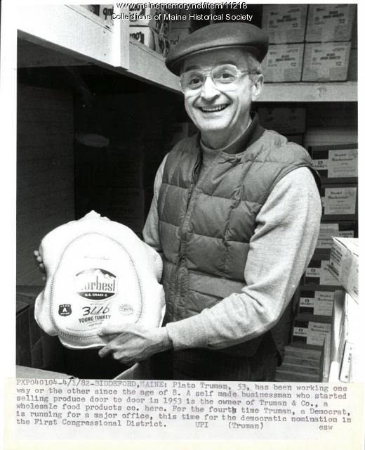 Candidate Plato Truman, Biddeford, 1982