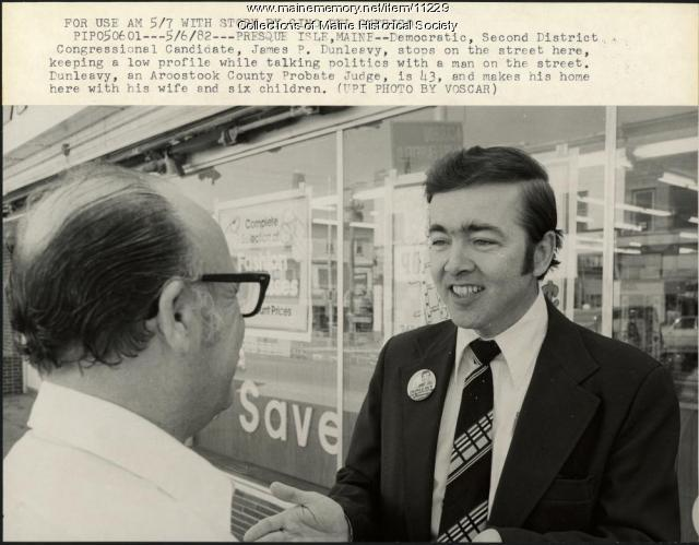 Candidate James P. Dunleavy, Presque Isle, 1982