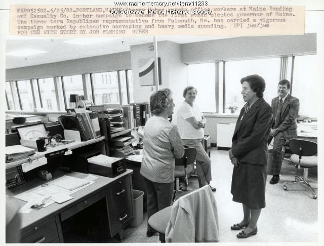 Candidate Sherry Huber, Portland, 1982
