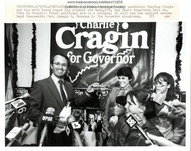 Primary winner Charles Cragin, Portland, 1982