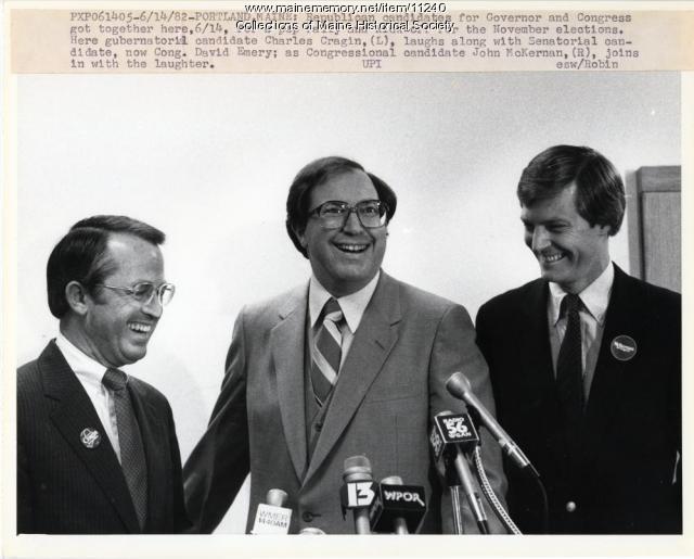 Republican candidates, Portland, 1982