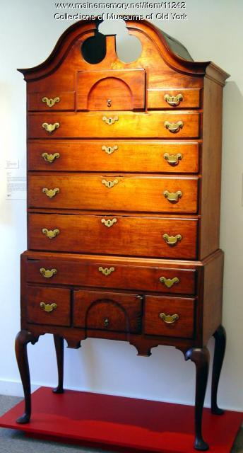 Walnut Bonnet-top High Chest, probably York, ca. 1770