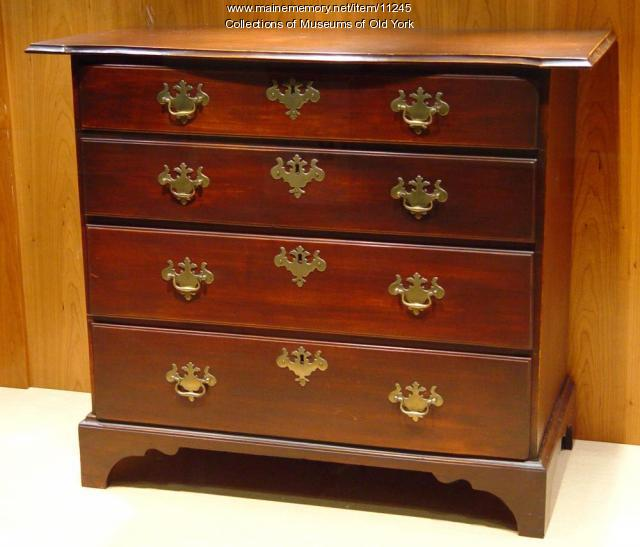 Chest of Drawers attributed to Major Samuel Sewall of York, ca. 1760