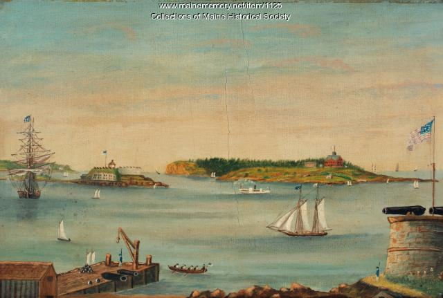 View of Portland Harbor, ca. 1853