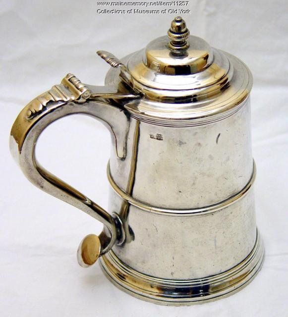 Silver Tankard by Benjamin Burt, Boston, ca. 1760