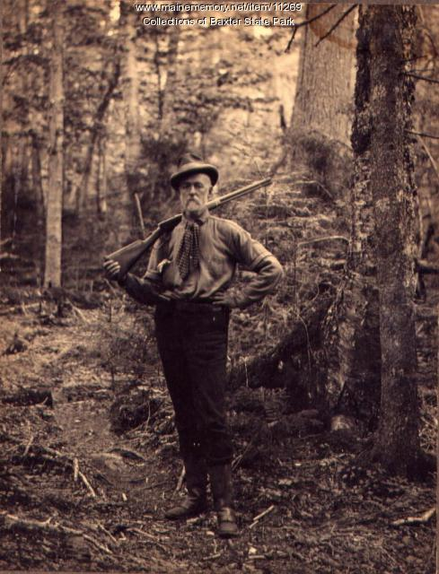 Mr. Wells, Maine woods, 1900