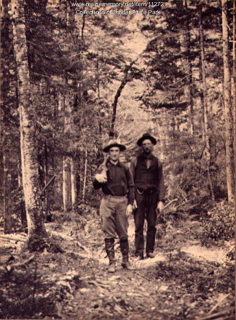 Charles Parson, Elmer Hale, Maine woods, 1900