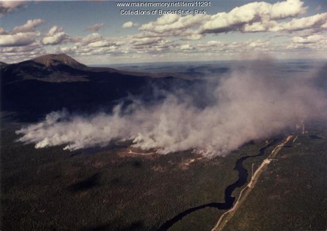 Smoke, Baxter State Park fire, 1977