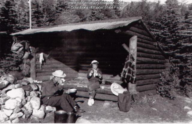Les Prindall and Lucille Stark, Baxter State Park, 1953