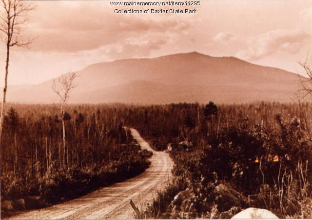 Katahdin from Togue Pond Road, 1937