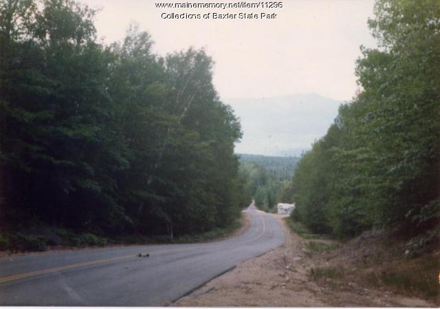 Katahdin from Togue Pond Road, Baxter State Park, 1987