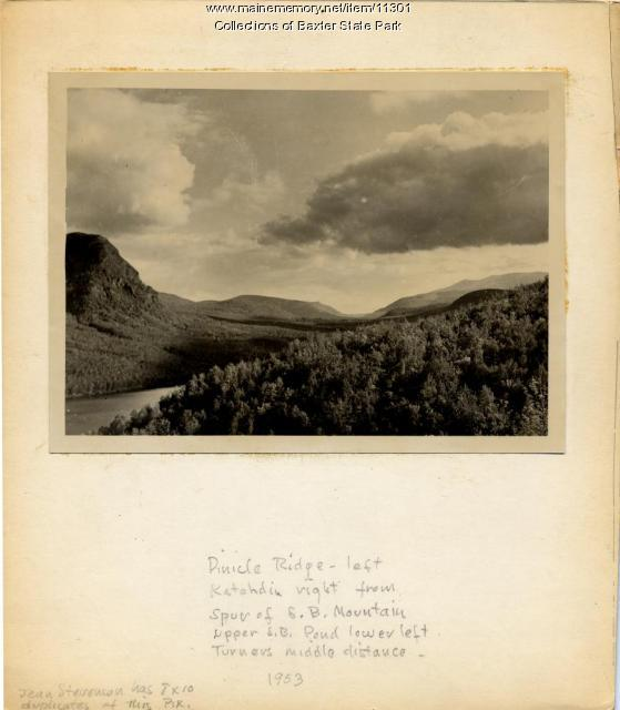 Pinnacle Ridge and Katahdin, Baxter State Park, 1953