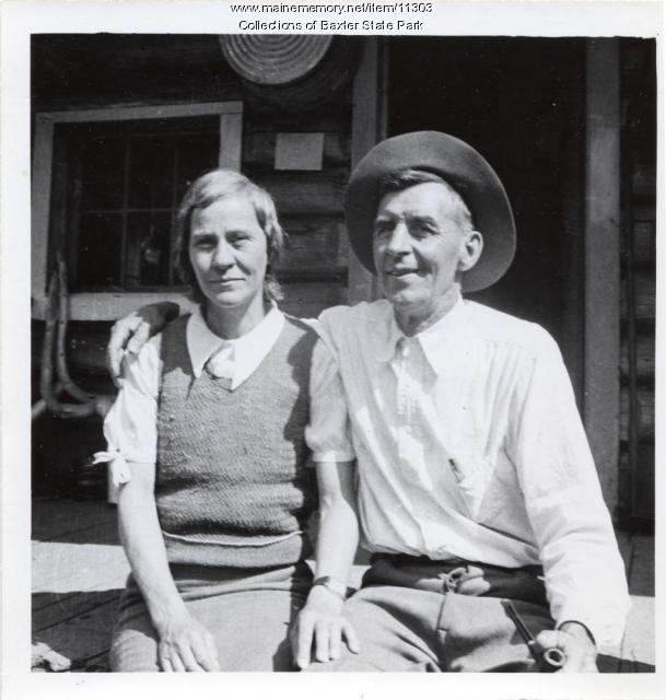 Abby and Roy Dudley, Baxter State Park, 1934