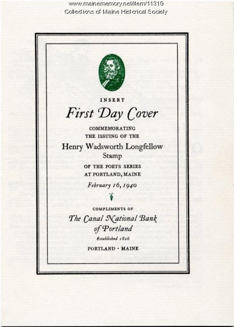 Longfellow Stamp First Day Cover, 1940