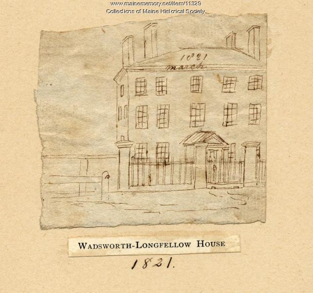 Wadsworth-Longfellow House, Portland, 1821
