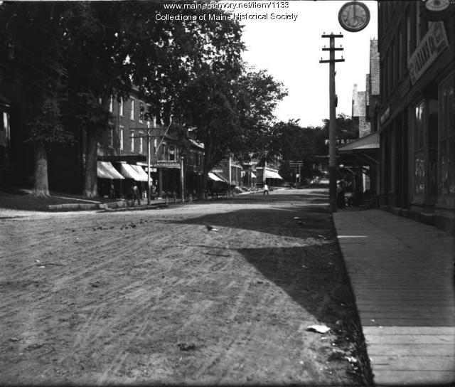 Main Street looking east, Damariscotta, ca. 1905