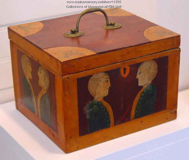 Carved box, Boon Island, York, ca. 1832