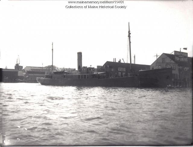 Commercial Wharf, Portland. ca. 1920