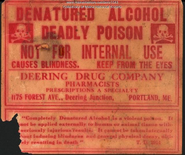 Deadly poison warning, Portland, ca. 1930