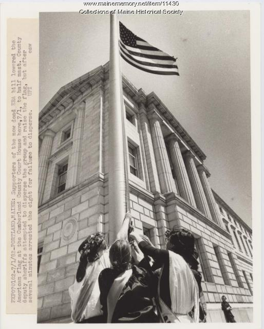 Dispute over flag lowering, Portland, 1982