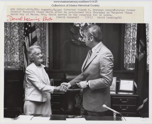 Margaret Chase Smith, Joseph Brennan, 1982