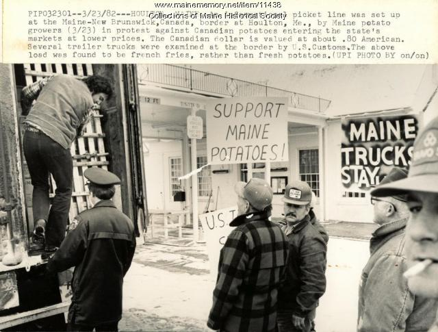 Potato protest, Houlton, 1982