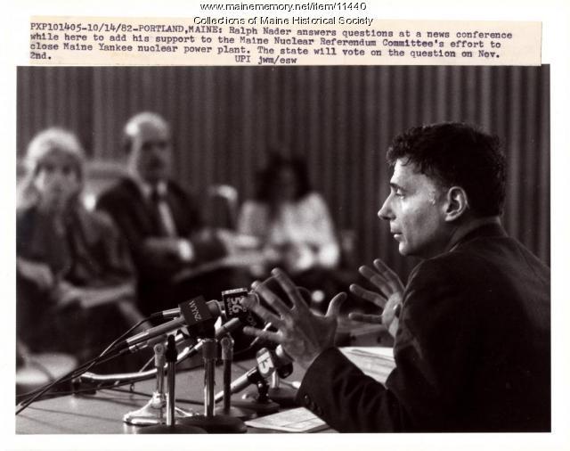 Ralph Nader, Portland, 1982