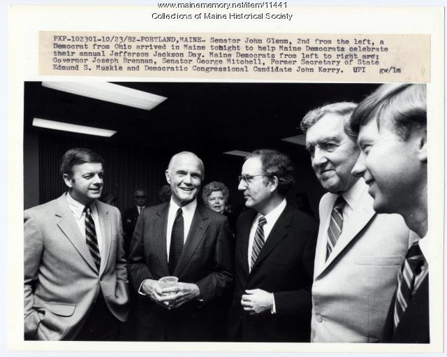 John Glenn with Maine Democrats, Portland, 1982
