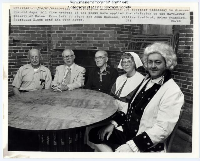 Pilgrim descendents, Hallowell, 1982