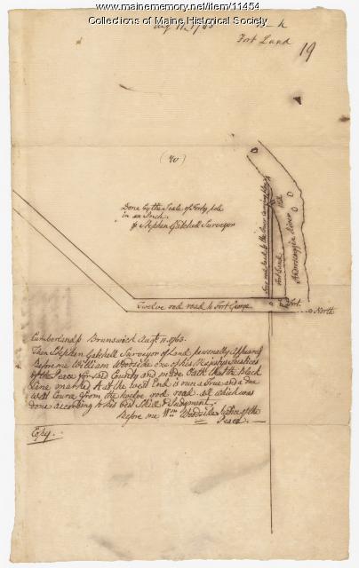 Fort Land, Brunswick, 1763