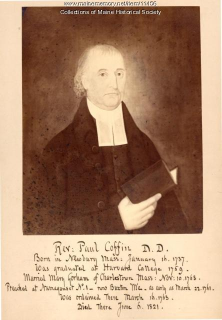 Reverend Paul Coffin, Buxton, ca. 1825