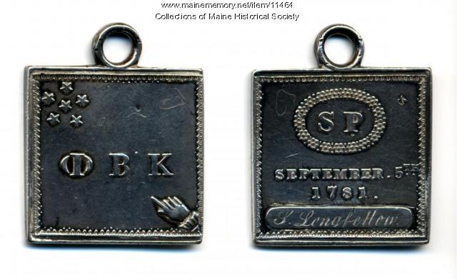 Stephen Longfellow Phi Beta Kappa key, 1798