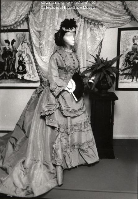 Mary A. Maling wedding dress, 1872