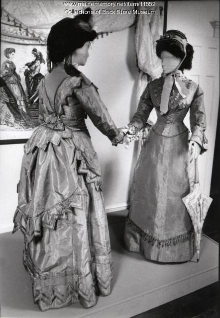 Dresses worn by Frances Jewell Morse and Mary Getchell, 1875