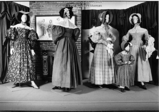 Five dresses, c. 1835